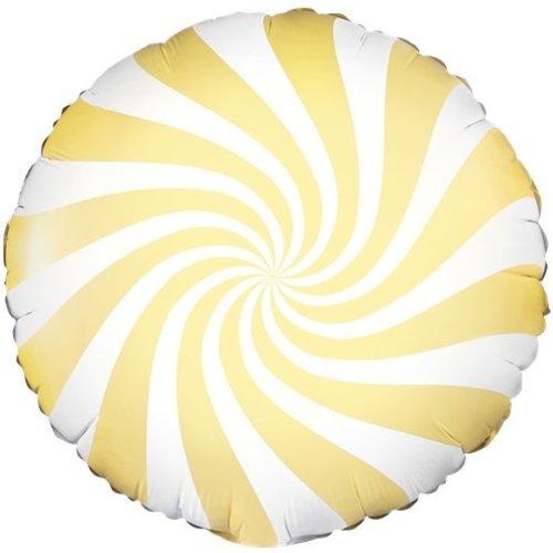 Candy swirl pastel geel ballon