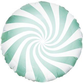 Candy swirl mint groen ballon