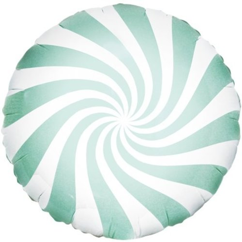 Candy swirl mint groen ballon