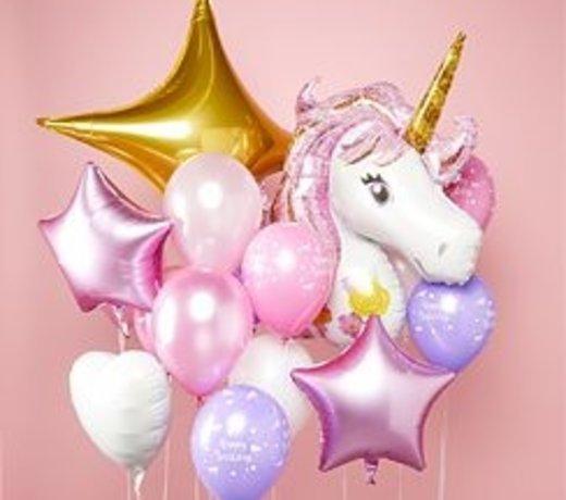 Unicorn pastel feestartikelen en versiering