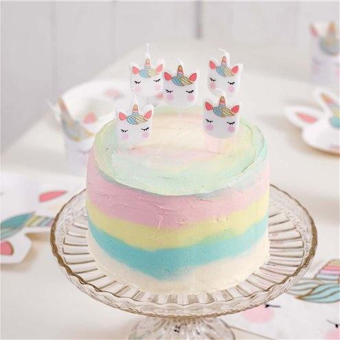 unicorn pastel kaarsen