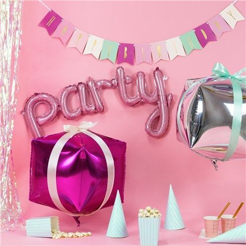 Party ballon pastel roze