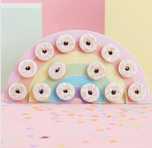 Donut muur pastel