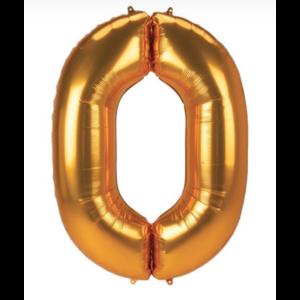 Cijfer ballon goud metallic XL