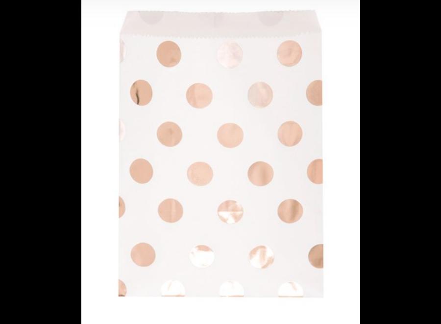 rose goud papieren zakjes dots