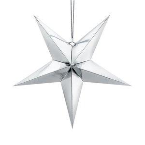 Zilveren ster decoratie