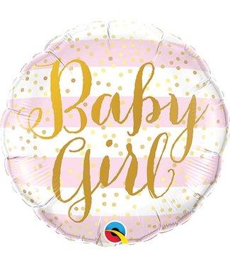 Baby girl ballon pastel roze