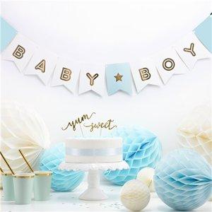 Baby boy slinger pastel blauw