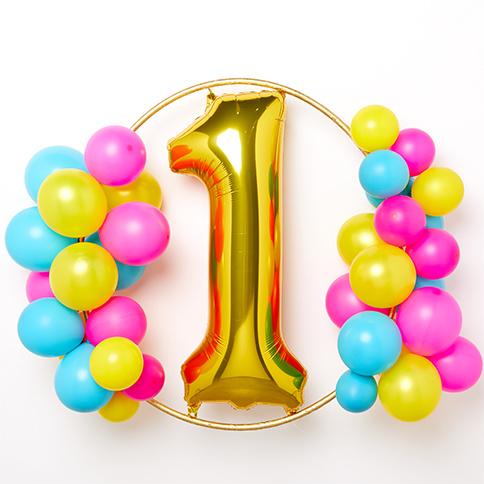 ballonnen boog 1 jaar