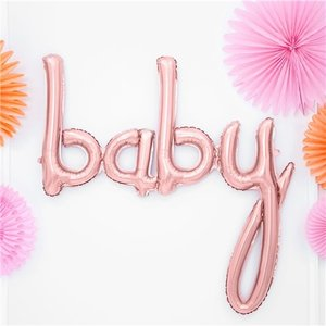 Baby rose goud ballon