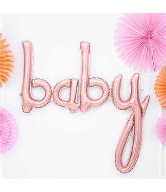 Baby rose goud ballon
