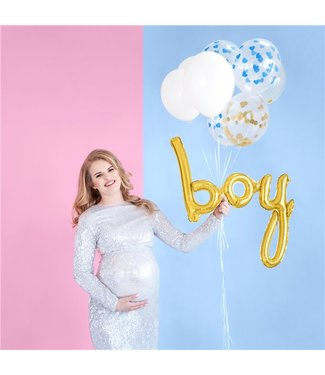 Boy metallic goud ballon
