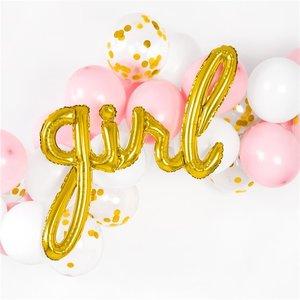 Girl metallic goud ballon