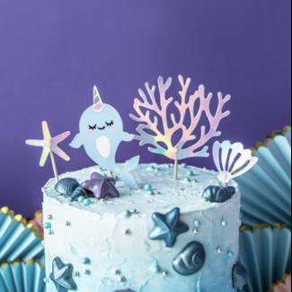 Narwhal taart decoratie