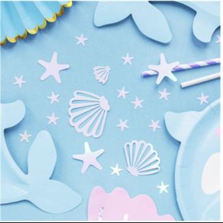 Mermaid iridecent confetti