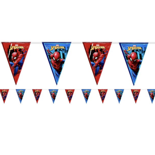 Spiderman vlaggetjes blauw