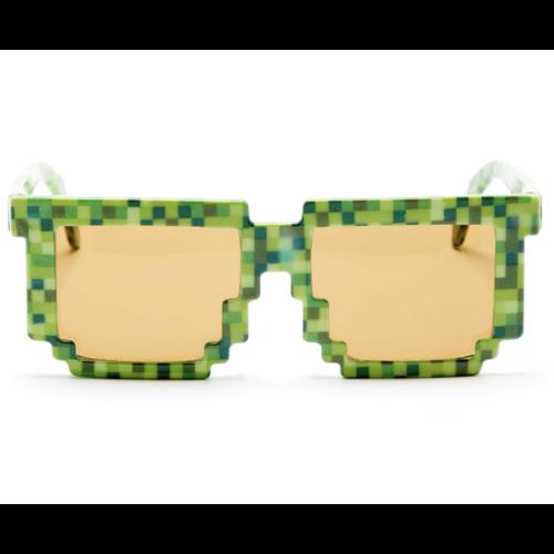 Pixel bril groen