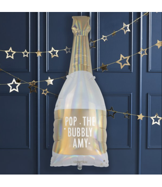 Pop the bubbly champagne fles ballon