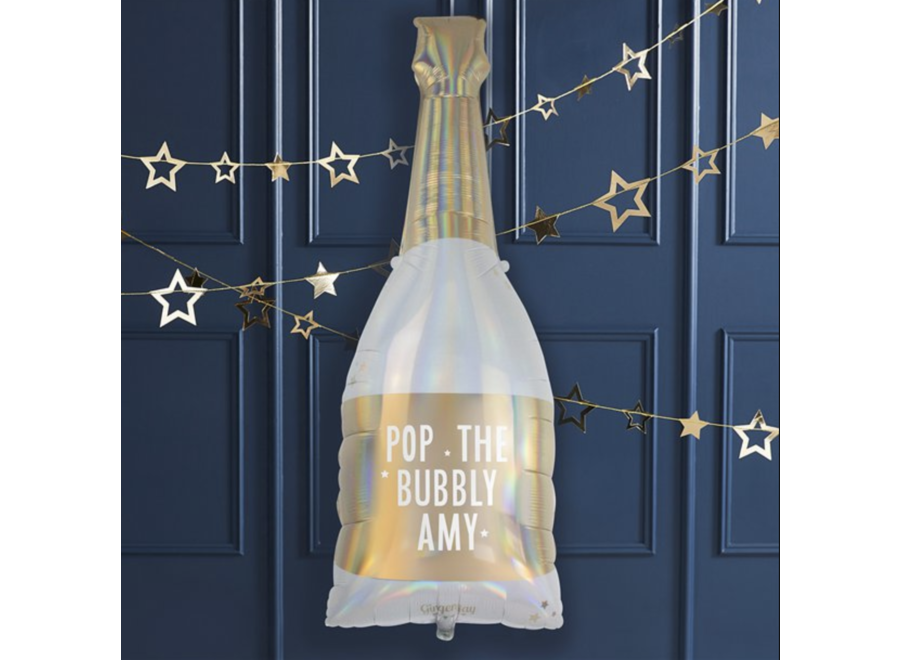 Pop the bubbly champagne fles ballon