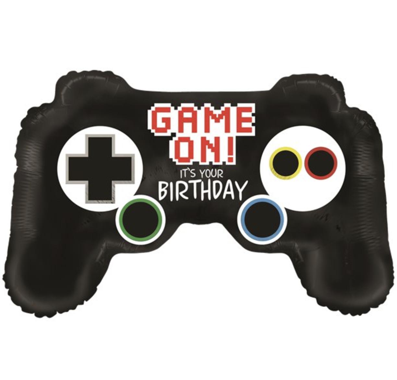 game on controller ballon