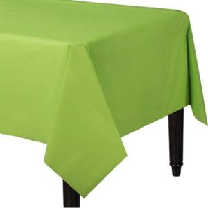 lime groen tafelkleed plastic