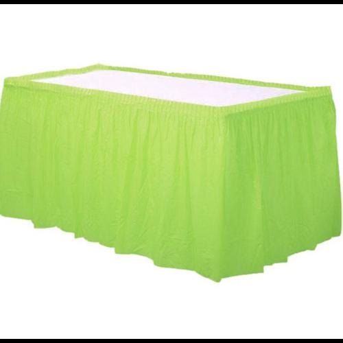 Lime groen tafelrok