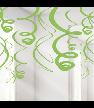 Lime groen swirl slingers