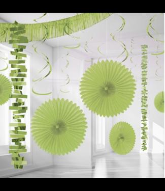 Amscan  Lime groen versiering set