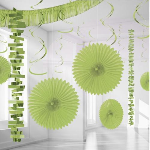 Lime groen versiering set