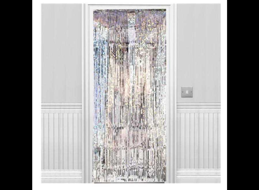 Iridescent deur gordijn