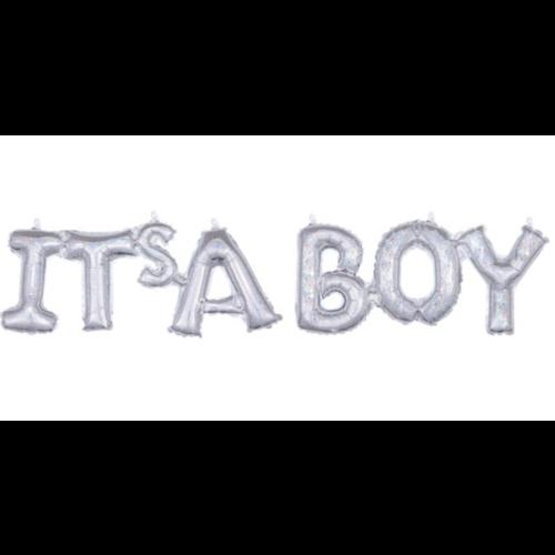 it's a boy ballon iridescent