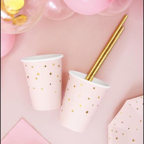 kleine ster bekers pastel roze