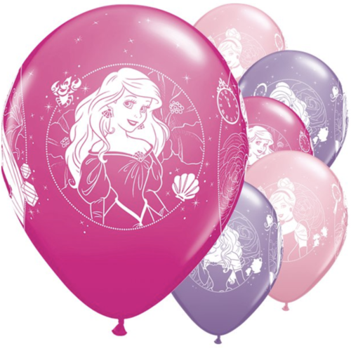 Disney prinses ballonnen paars - roze