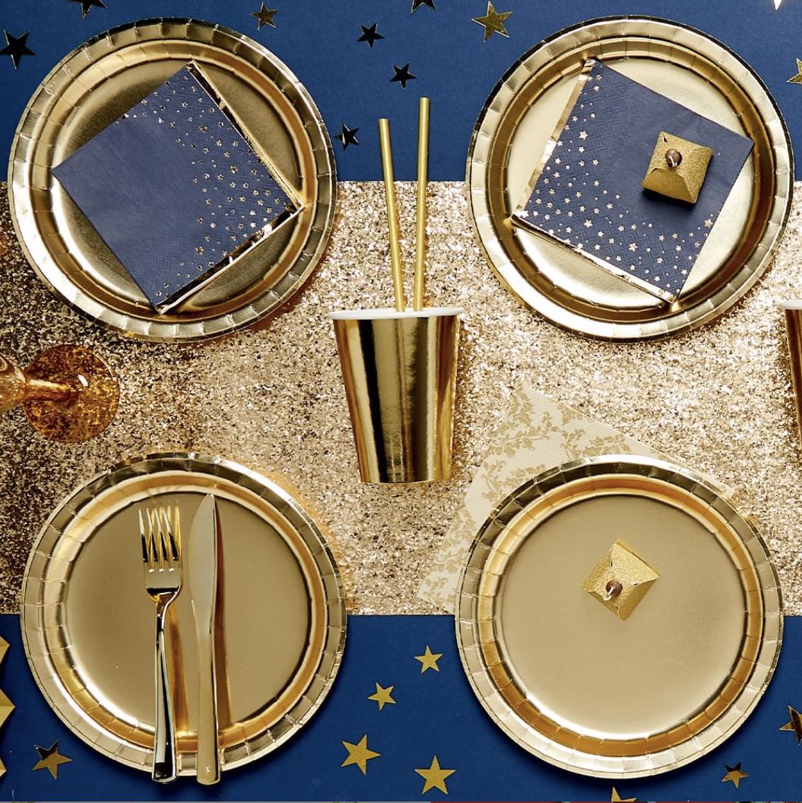 kerst diner goud