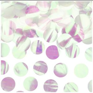 Iridescent confetti dots