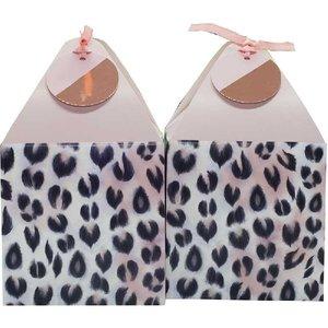 Cadeau tasjes luipaard roze