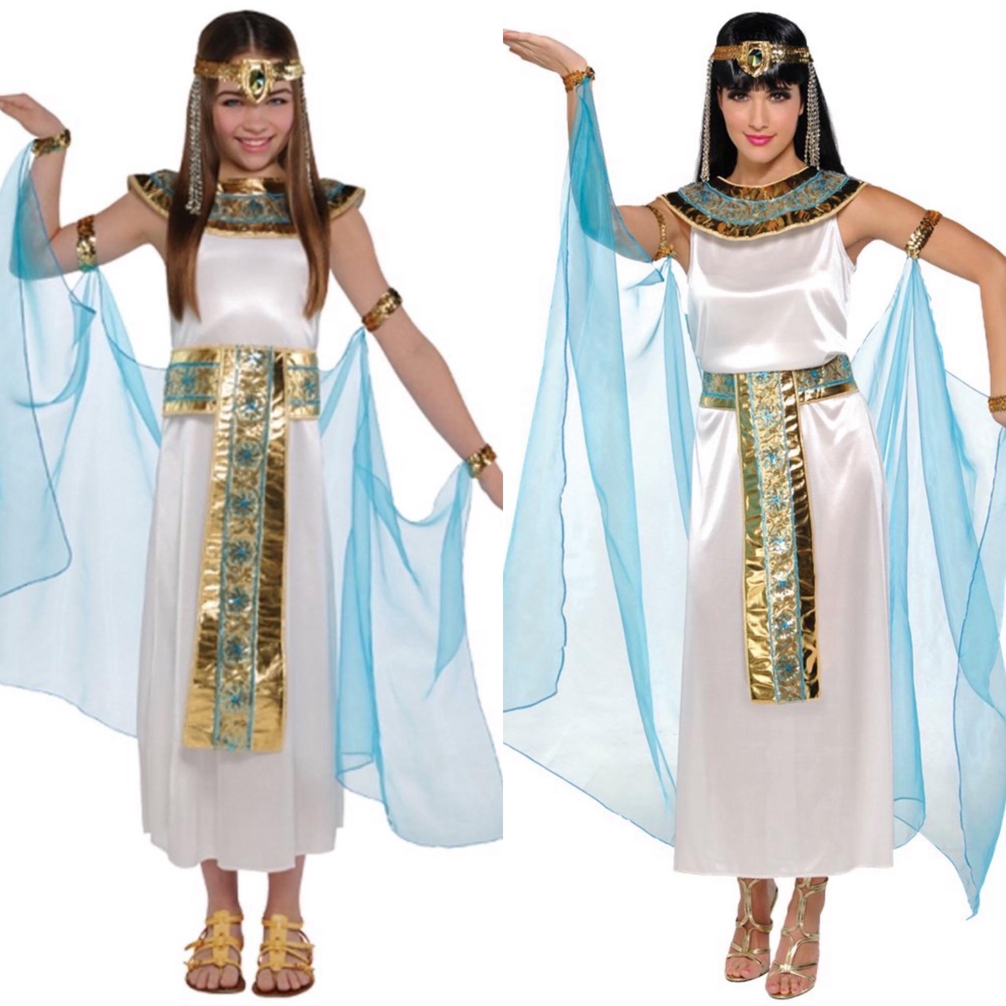 Cleopatra moeder en dochter kostuum
