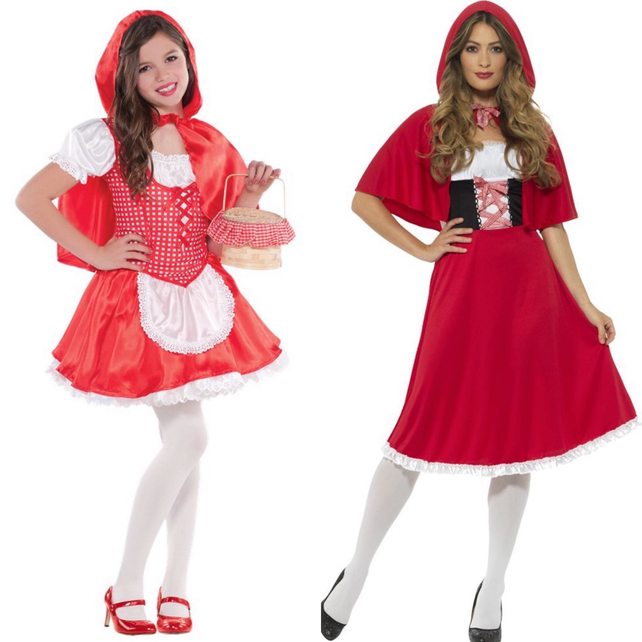 Roodkapje moeder en dochter kostuum