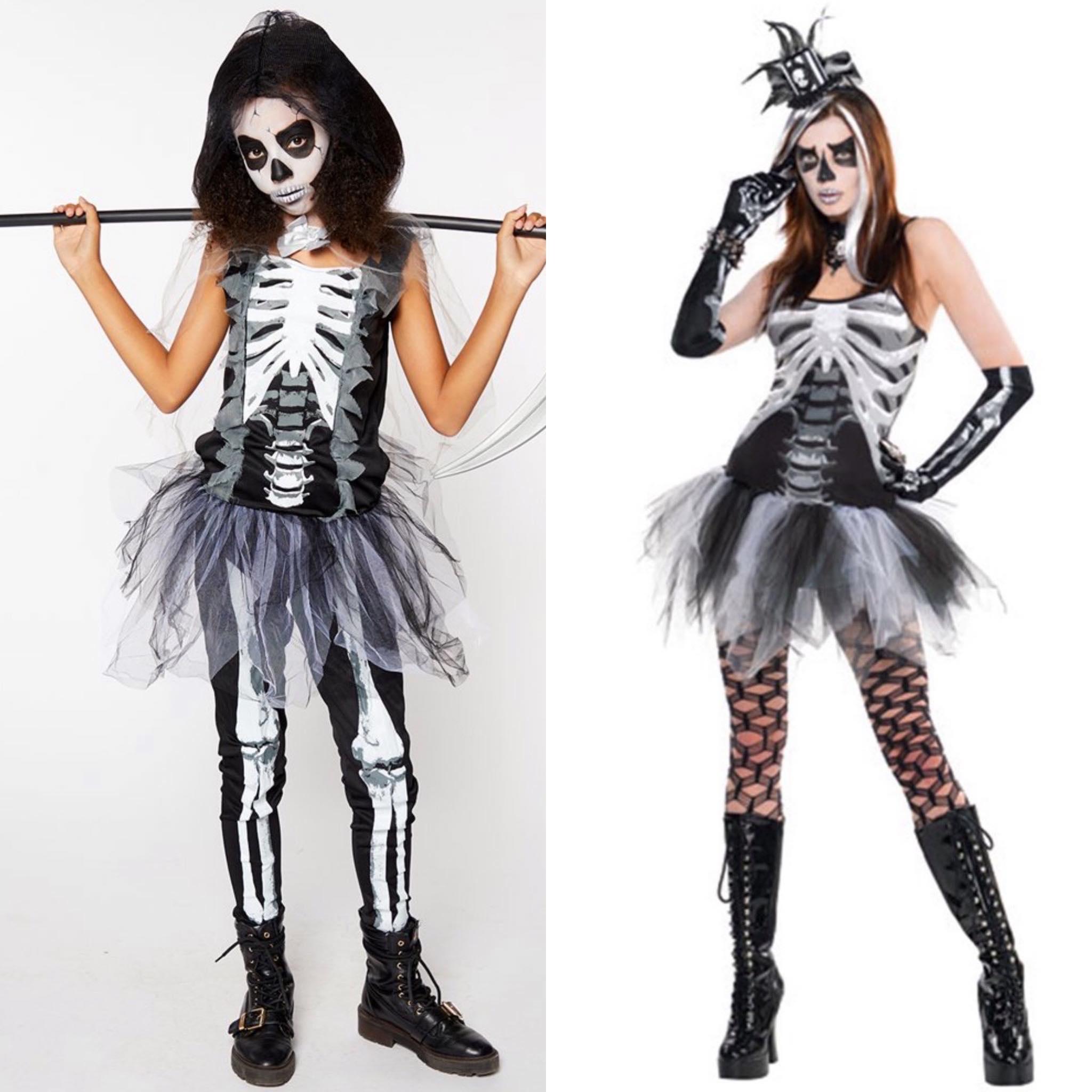 Bones moeder en dochter kostuum