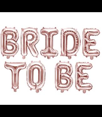 Bride to be rose ballonnen