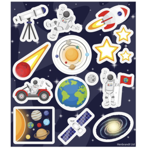 Space party stickers