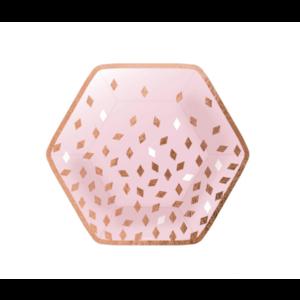 Rosé goud confetti borden