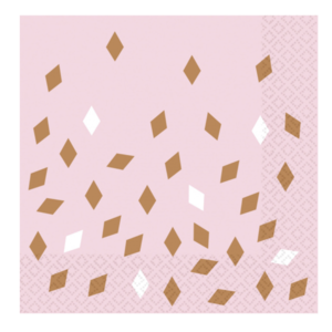 Rose goud confetti servetten