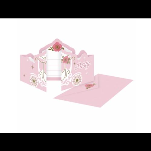Prinsessen koets uitnodigingen