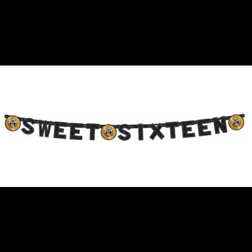 Sweet sixteen slinger zwart