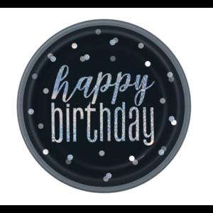 Happy birthday borden zwart