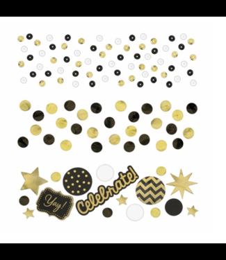 Celebrate confetti goud - zwart