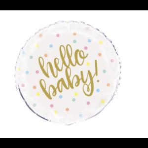 Hello baby ballon
