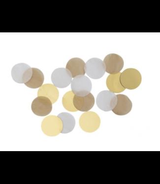 Amscan  Confetti goud - wit