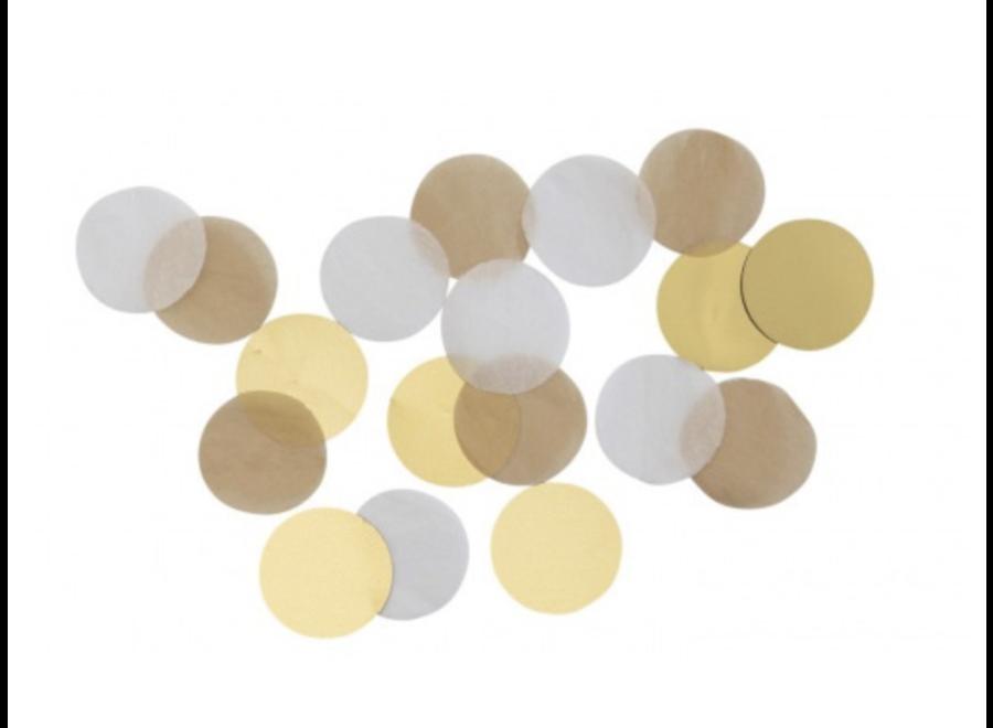 Confetti goud - wit